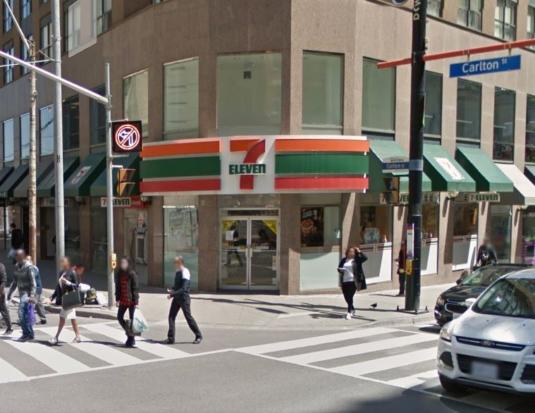 Google Streetview shot at the corner of Yonge / Carlton