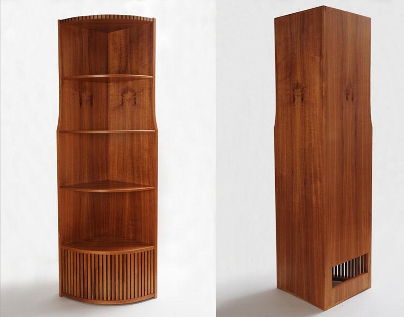 Koa Corner Cabinet