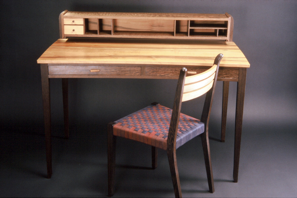 Writing table and chair
