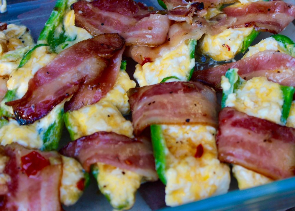Spicy, cheesy, bacon-y goodness.