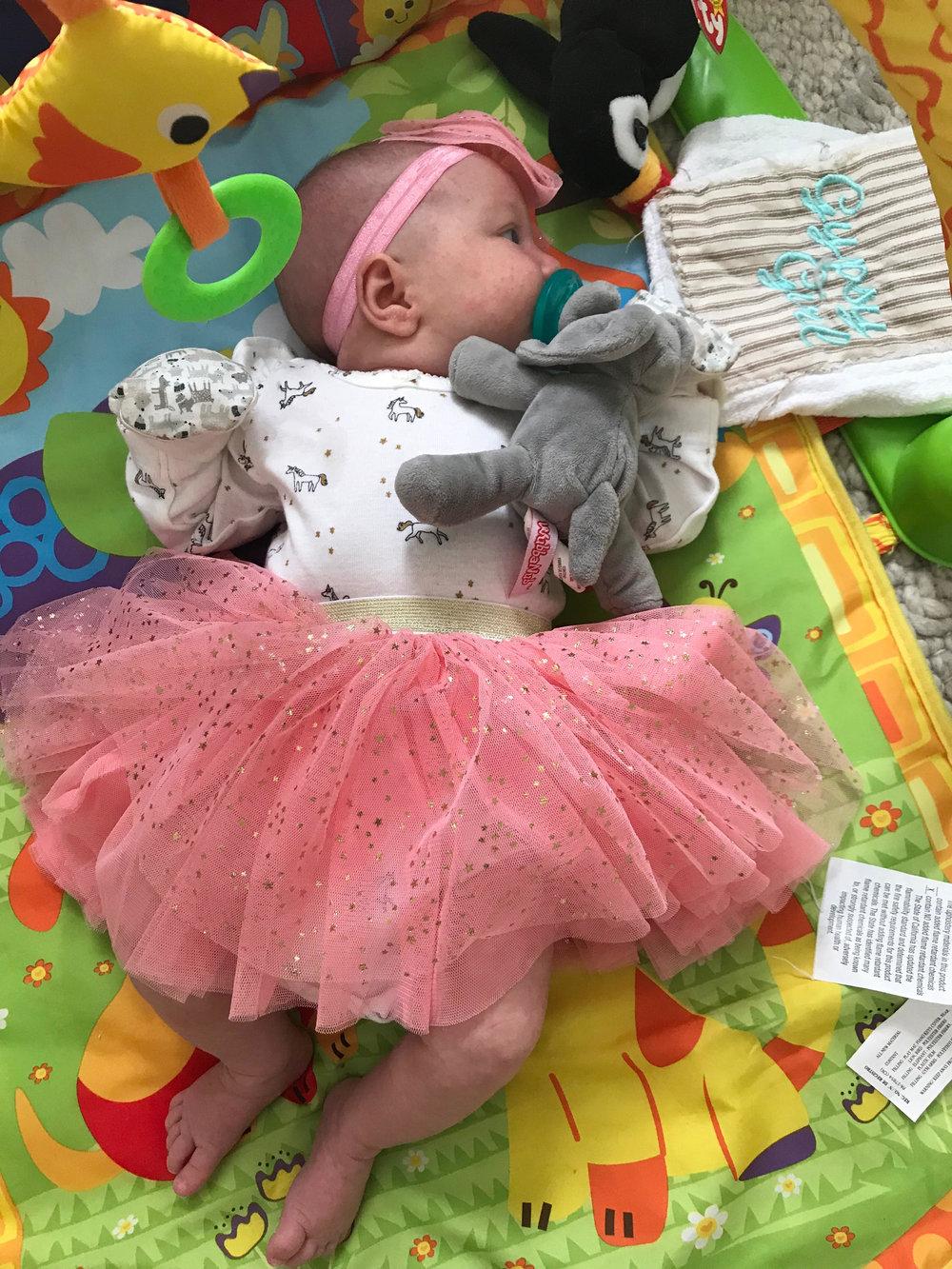 She is little! She is fierce! She looks great in a tutu!