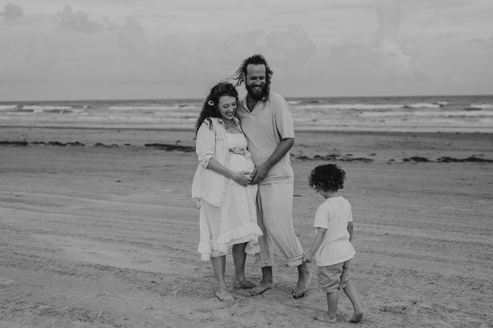 This is what most people think of when they think of pregnancy. A happy family, thrilled with joy at the life that's growing inside. Look closer. You'll see me forcing a smile so that nobody knows I'm trying really hard to not hate myself. Photo credit to: Photo by Joy, my amazing sister in law.