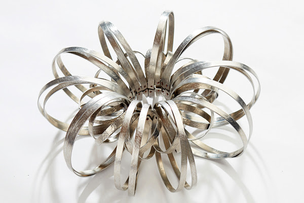 At RISD Reed takes particular pleasure from experimenting with metals in the studio.