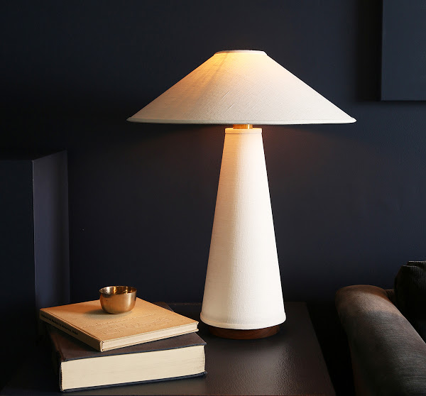 The newly released Linden Table Lamp is inspired by Mediterranean culture and textile techniques.