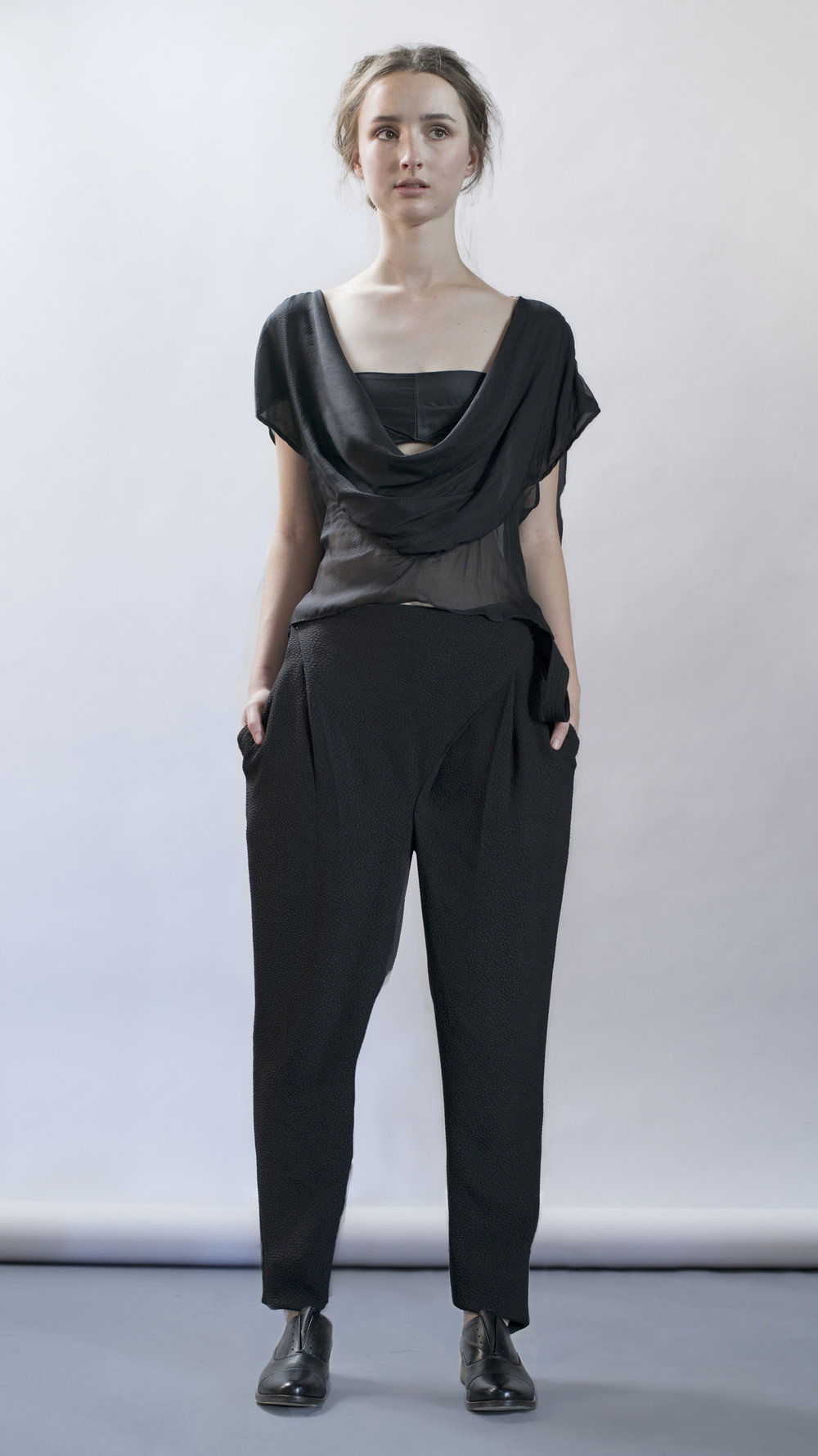 distortion collection  embrace top  cross pant