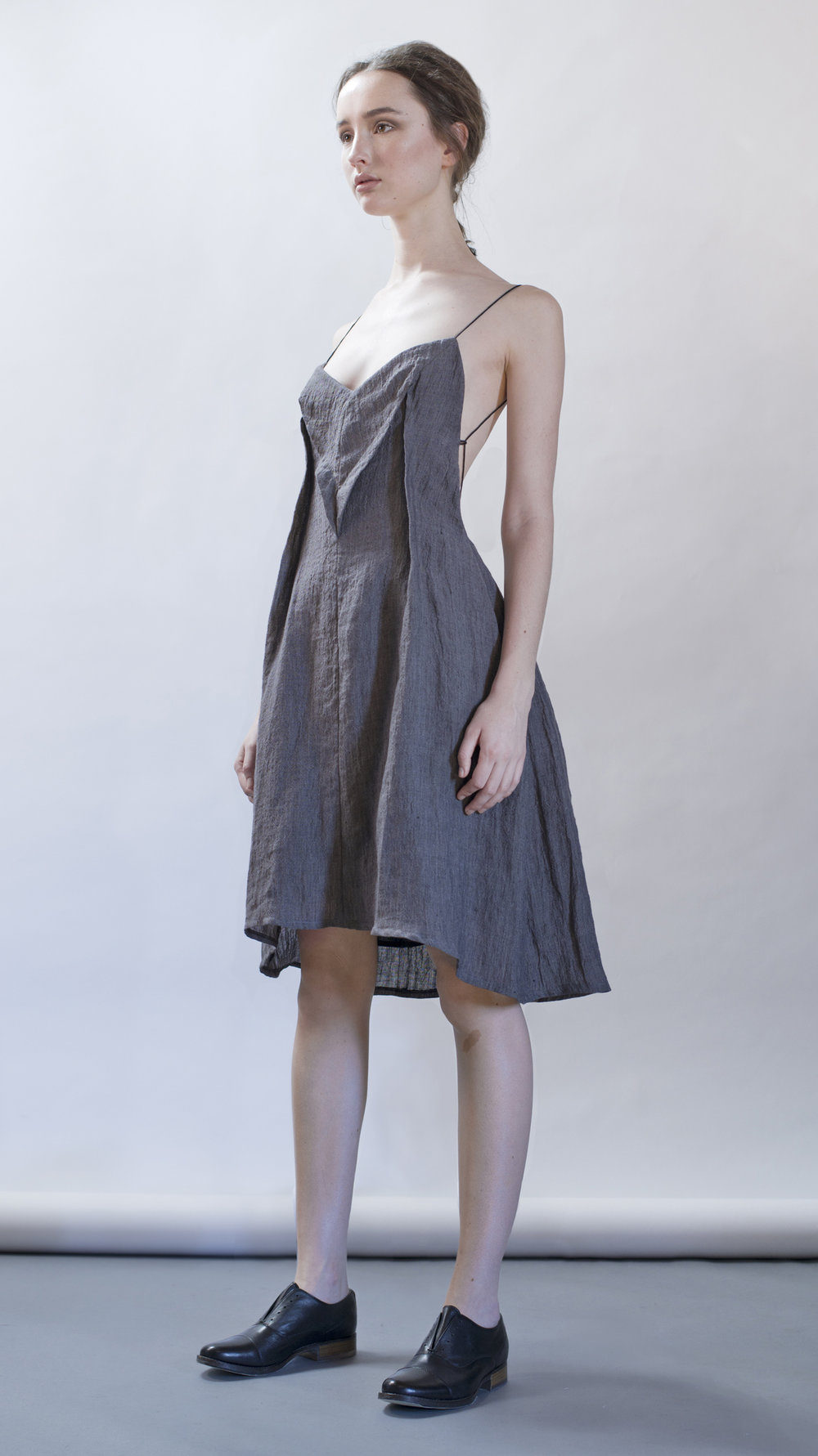 distortion collection  herringbone dress