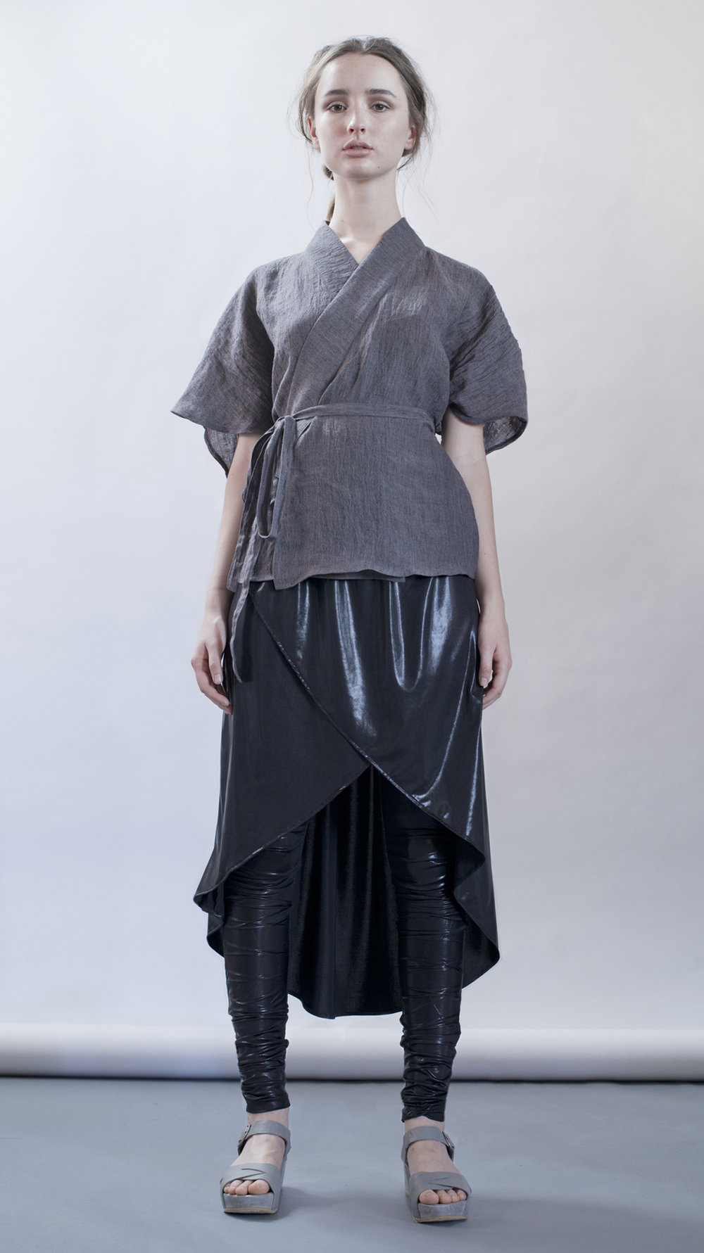 distortion collection  koto top  cocoon skirt