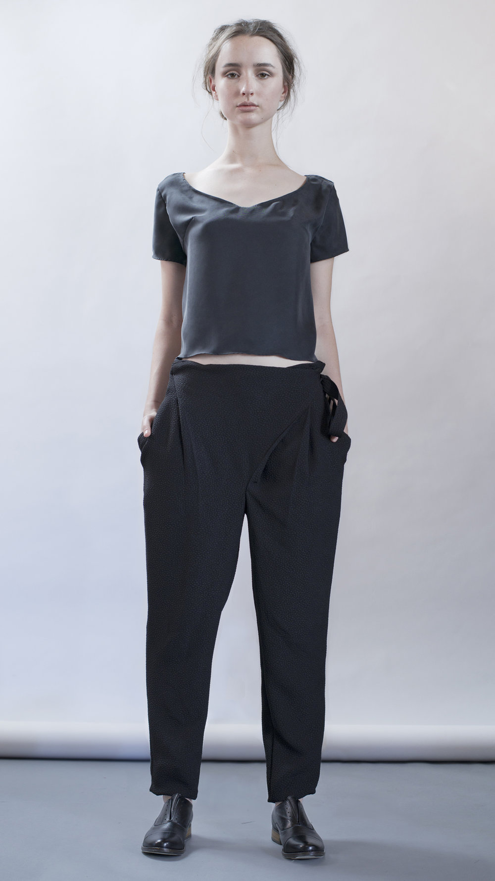 distortion collection  molten top  cross pants