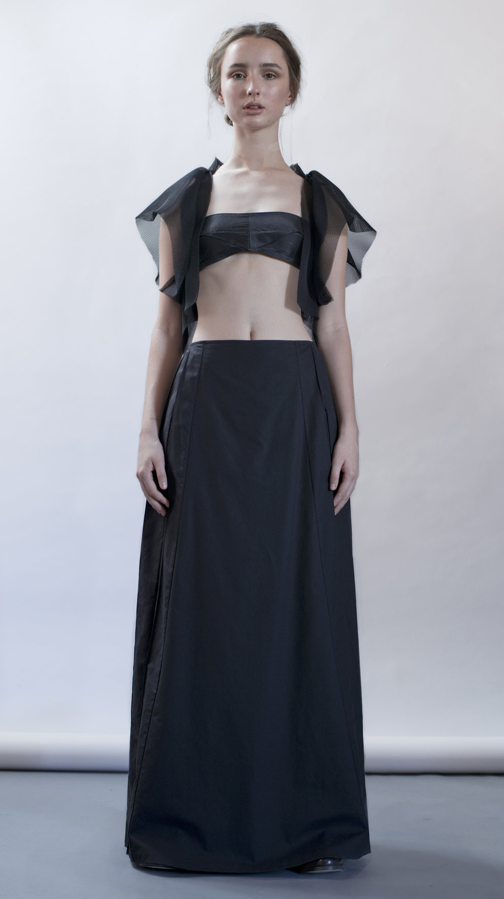 distortion collection  immaculate top  petrol bra  pointe skirt