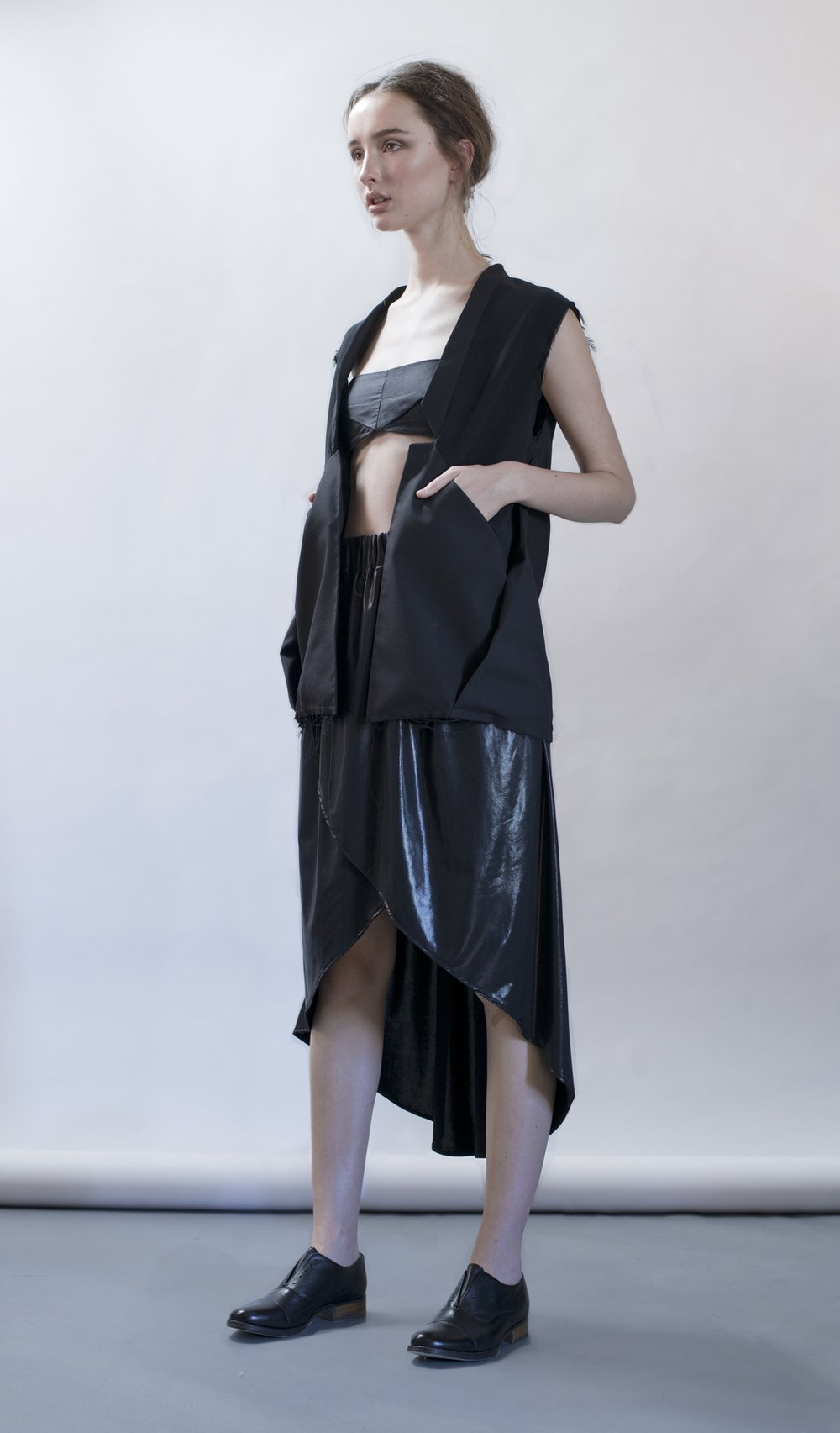 distortion collection  straight jacket  petrol bra  cocoon skirt