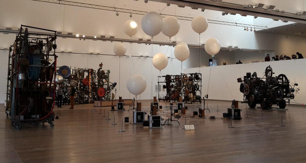 "Installationsansicht im Rahmen der Ausstellung ""Musikmaschinen/Maschinenmusik"" 19. Oktober 2016 – 22. Januar 2017, Museum Tinguely, Basel © Museum Tinguely, Basel"