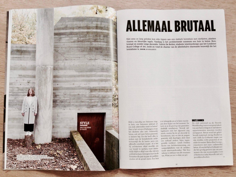 Wandplanken Van Beton : First press!! de standaard magazine u2014 valle