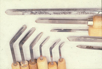 Fig. 17.     David Ellsworth, United States. Bent shaft tools. Photo: David Ellsworth