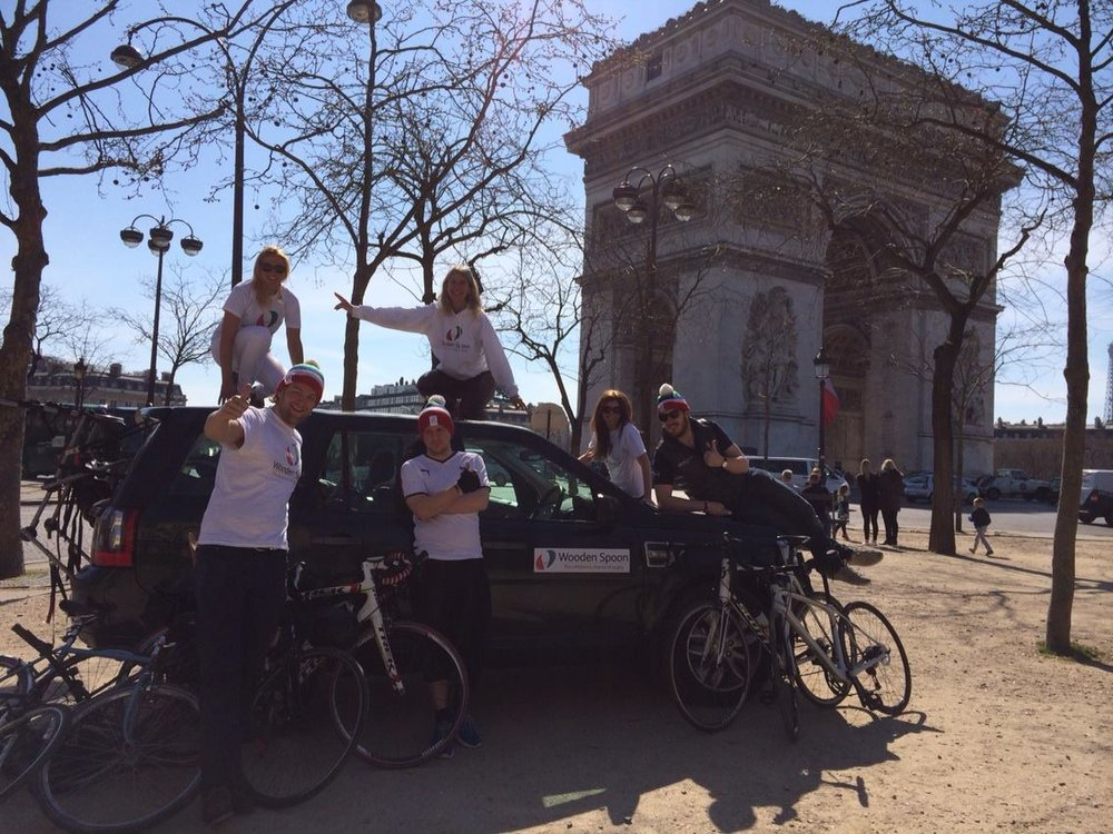 London to Paris charity bike ride