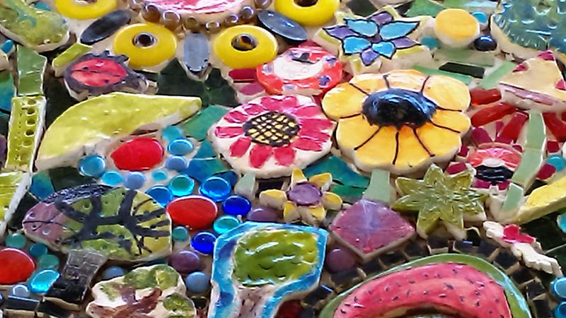 Sample assortment of hand made tiles