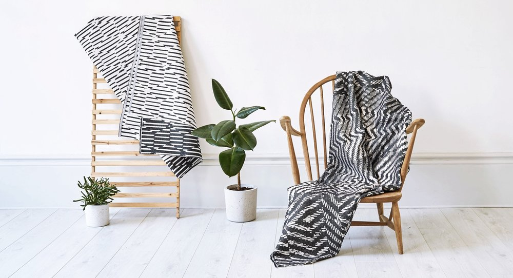 Beatrice Larkin woven throws