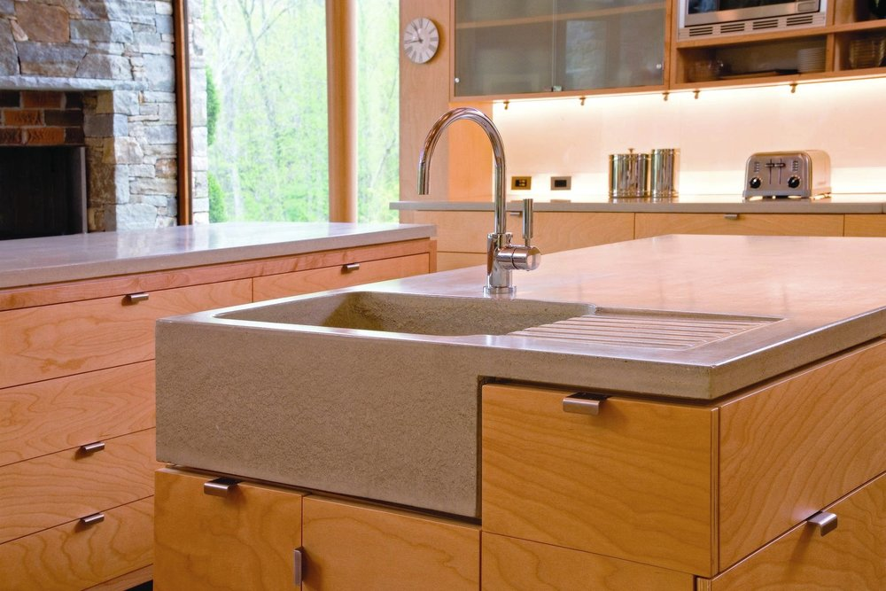 Get Real Surfaces concrete countertops and sink