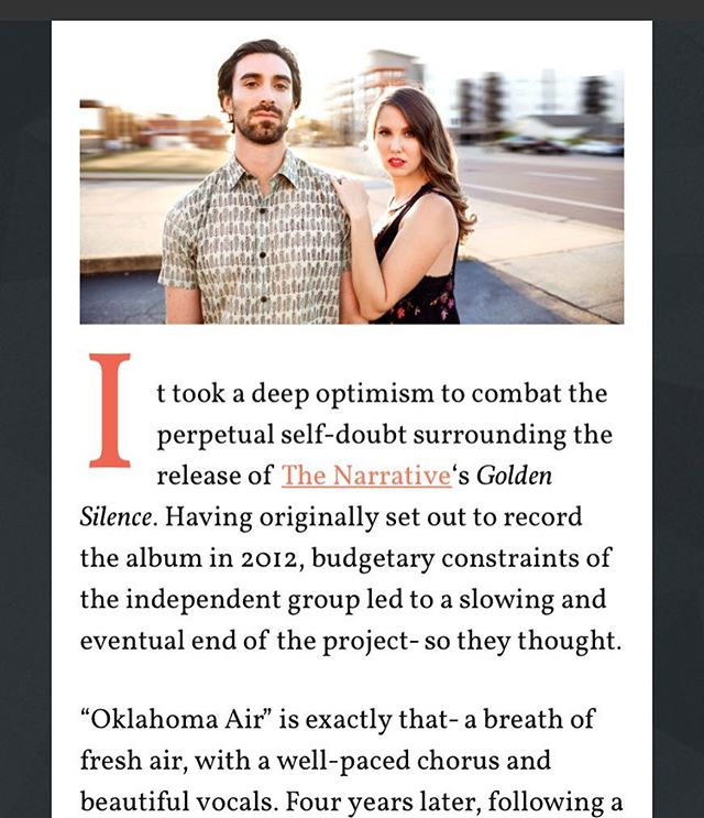 """Oklahoma Air"", off of our upcoming album, Golden Silence, is streaming now thanks to @imposemagazine. Go check it out. Link in bio."