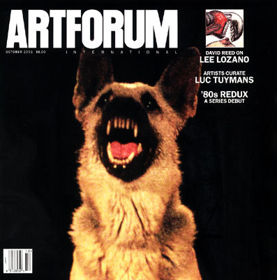 "Schwabsky, Barry. ""Glenn Ligon: D'Amelio Terras.""  Artforum  40, no. 2 (October 2001): 158–59."
