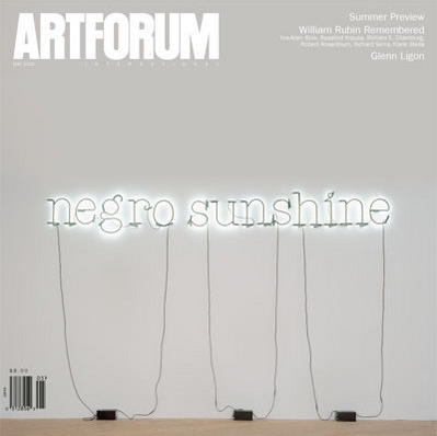 "Meyer, Richard. ""Light it up, or How Glenn Ligon Got Over.""  Artforum  44, no. 9 (May 2006): 240–47."