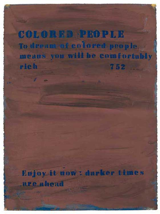 No. 752 (Colored People), 1990