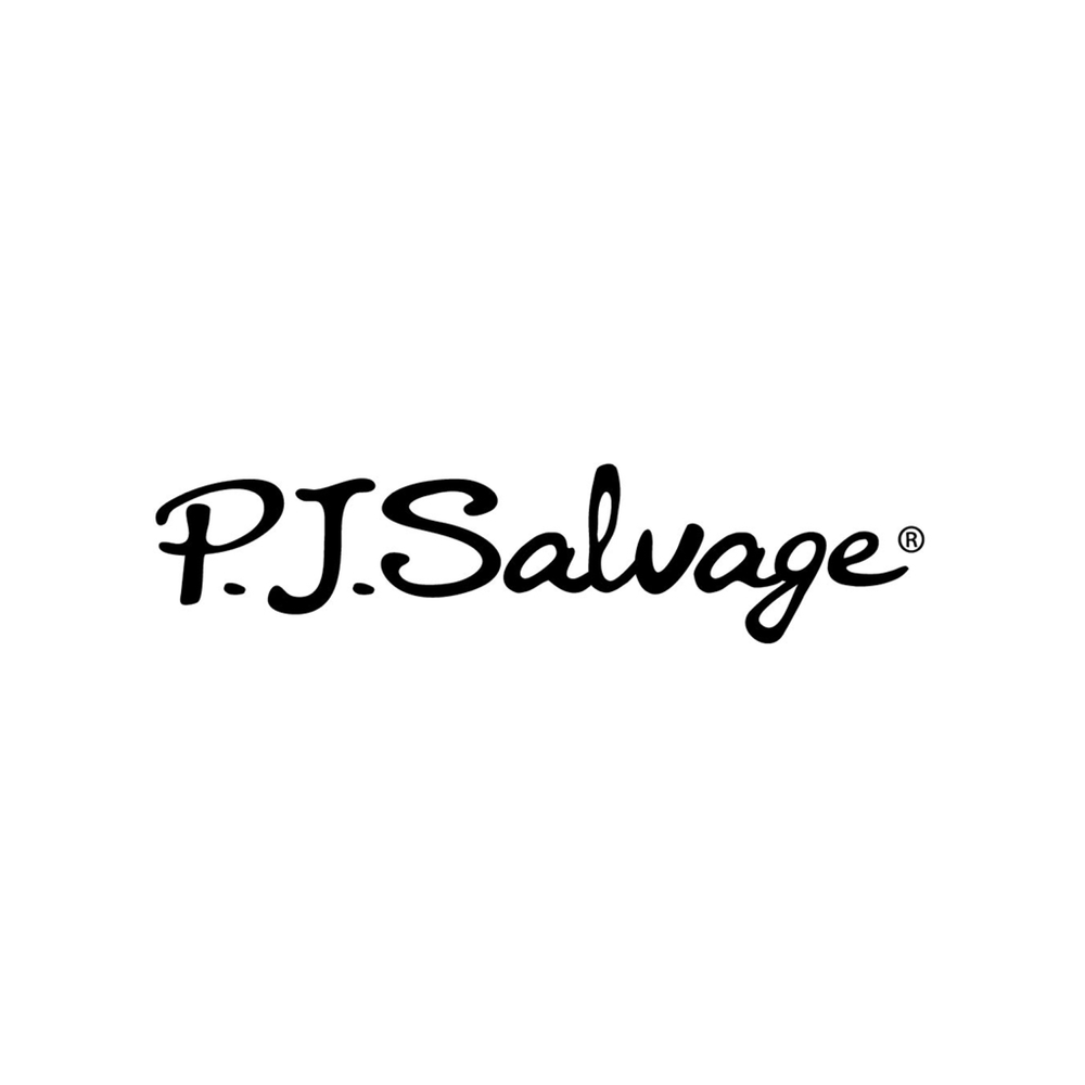 P.J. SALVAGE Known for using luxury fabrics and chic patterns, P.J. Salvage transformed night wear into sleep to street wear. Paying meticulous attention to every detail, P.J. Salvage prides itself in superior quality, luxurious fabrics, celebratory fits, and modern style.  As P.J. Salvage began to gain notoriety in national press, including the top fashion and trade publications.  P.J. Salvage has become Hollywood's go-to purveyor for fashionable pajamas, loungewear, and intimates.