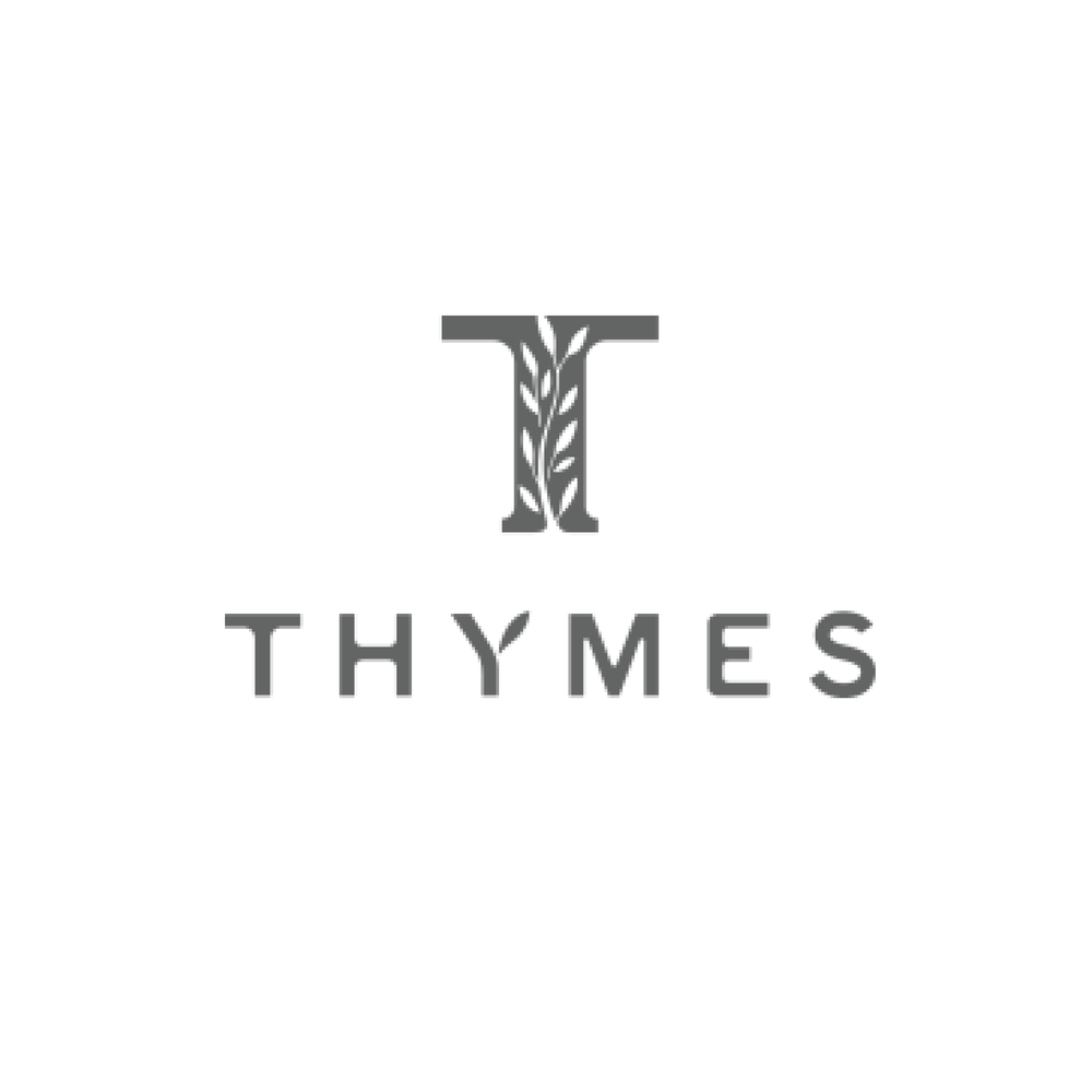 THYMES Nearly 30 years ago, Thymes was founded by two friends with a mutual curiosity and a common desire to make something meaningful and beautiful.  Today, we're an independent company committed to artisan craftsmanship and dedicated to deepening connections through our love of fragrance — and, most of all, to creating fragrances that enrich the quality of your daily experience.