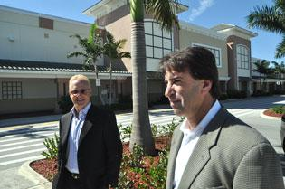 James Tate, president and CEO of Tate Capital, and Sergio Rok, president of Rok Enterprises, at Coral Landings II.  (Photo by Mark Freerks)