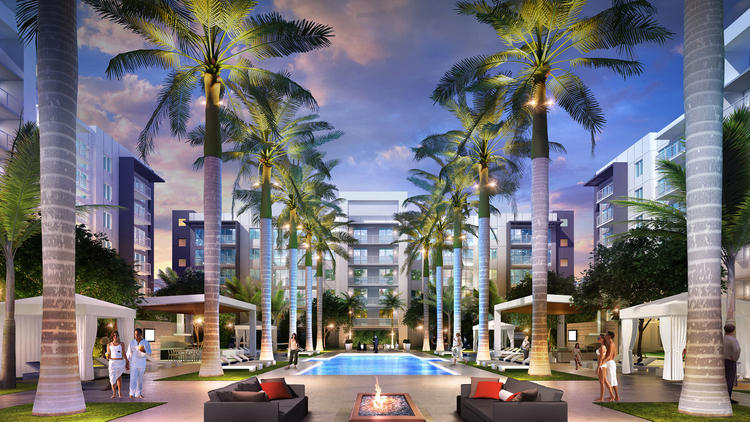 Allure Boca Raton will feature 282 rentals ranging from $1,800 to $2,800 a month. (Danburg Management Corp.)