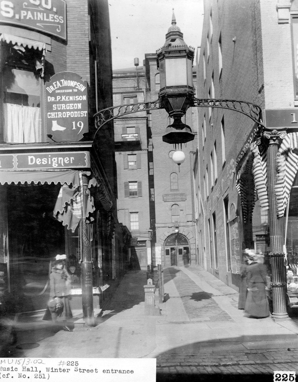 Boston Music Hall, Winter Street Entrance