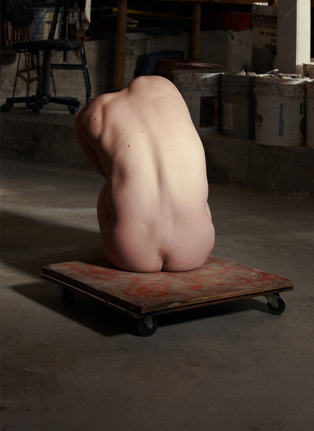 "Model in the Sculptor's Studio  (2010) chromogenic prints; 55"" x 40"" (each)"