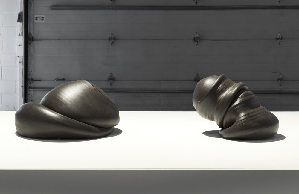Sixes and Sevens (2017) ceramic, sizes variable  Installation view of  Unruly Matter  at Daniel Faria Gallery, Toronto, Canada