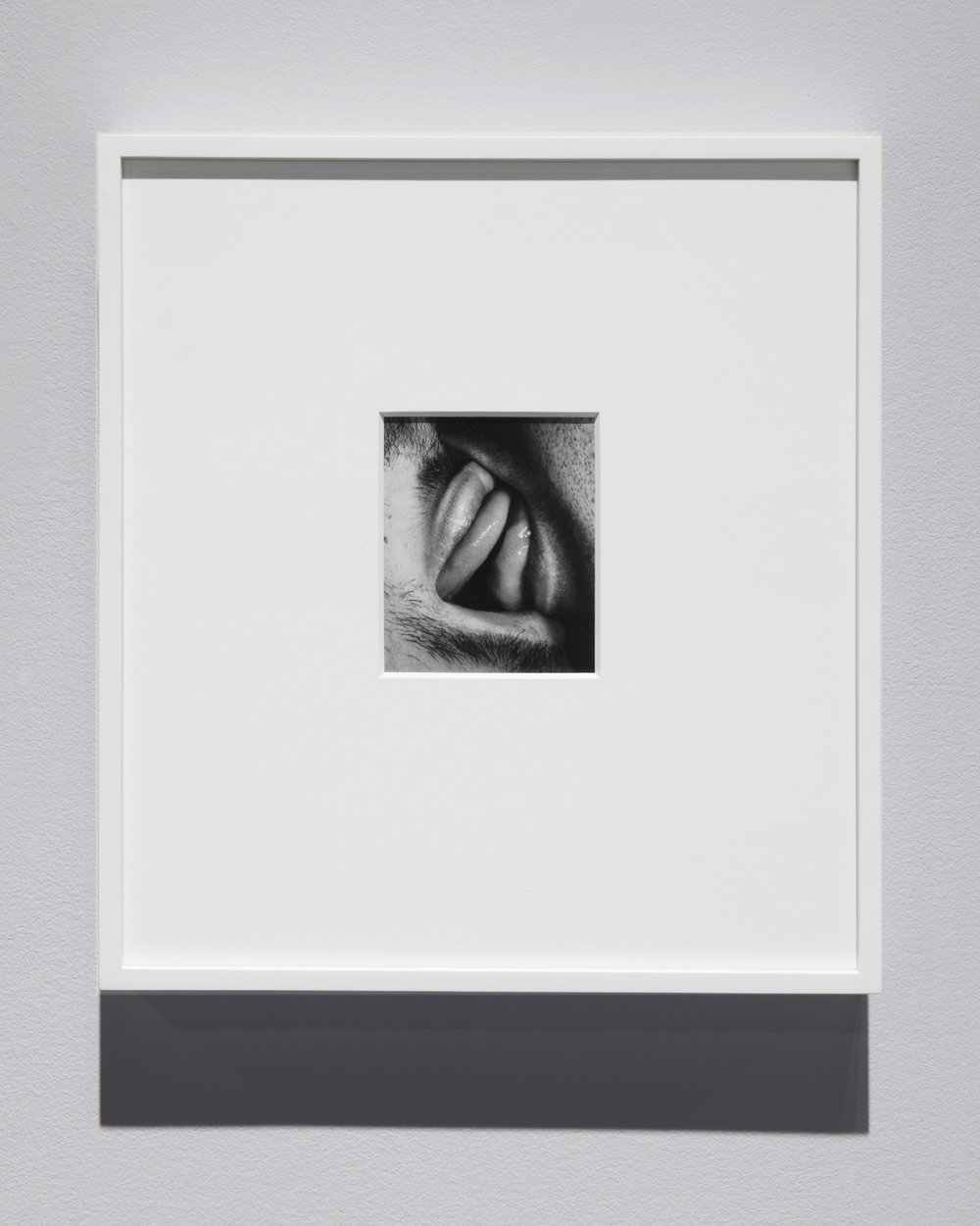 "Kiss Portfolio  (2016) gelatin silver print, 4"" x 5"", from a portfolio of 8 images  Installation view of  Unruly Matter  at Daniel Faria Gallery, Toronto, Canada"