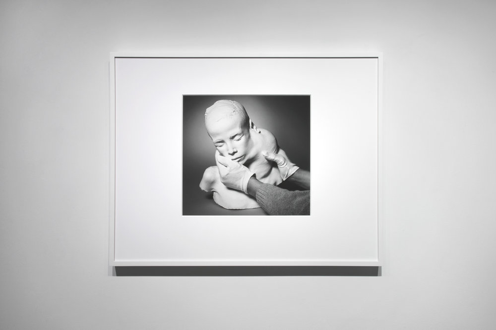 """Lifecast (2017) gelatin silver print, 13.5"""" x 15""""  Installation view of  Unruly Matter  at Daniel Faria Gallery, Toronto, Canada"""