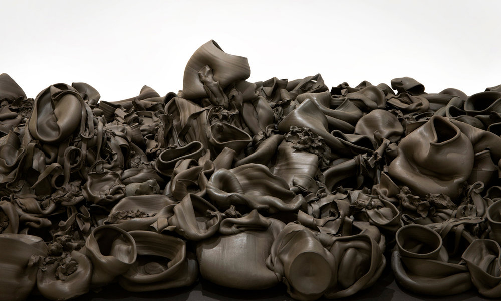 That, There, It  (2015) ceramic; 4' x 8' x 1.5'