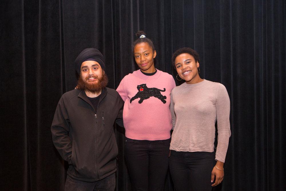 Jagdeep Raina, Kara Walker, and Kelly Mitchell. Photo: Jo Sittenfeld/RISD Media