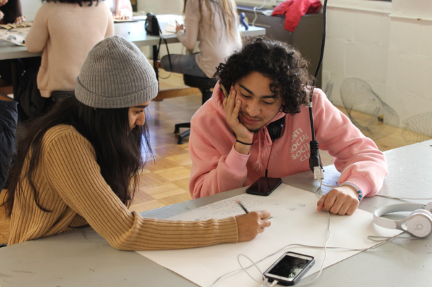 POD teens Pranita and Raymond working together on a Saturday morning