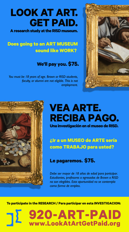 "Ad for ""Look at Art, Get Paid""; Design: Hello Velocity"