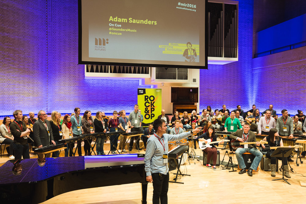 Presenting the Opening Keynote Session at the 2016 Musical Futures UK Conference at the Royal Northern College of Music, Manchester.