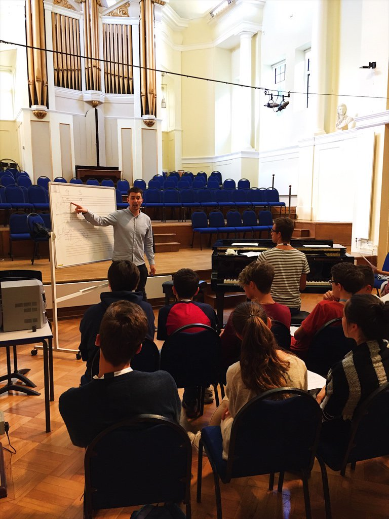 Working with the pianists at Ingenium Academy
