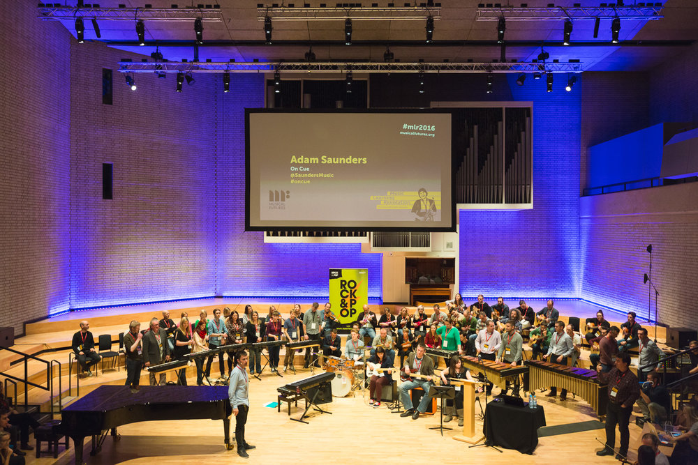 Delivering the Keynote at the Music Learning Revolution, Royal Northern College of Music