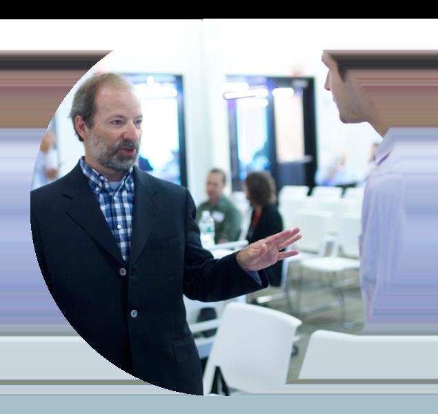 Architect Donald M. Rattner during presentation at Creative Mornings, Boston