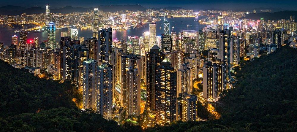 Hong Kong at night. Photography by Nathaniel Parker.