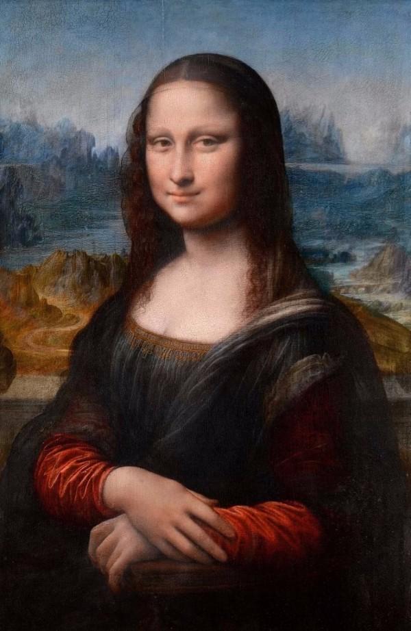 Mona Lisa (La Gioconda) by Leonardo da Vinci. c1503–06. Digital reconstruction after copy of original painted by Francesco Melzi(?). From the book  Your Creative Haven  by Donald M. Rattner (Skyhorse Publishing, 2019).