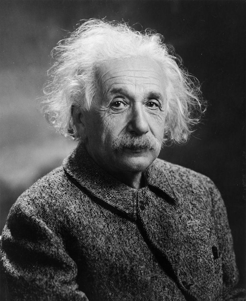Albert Einstein. Photography via  Wikimedia Commons.
