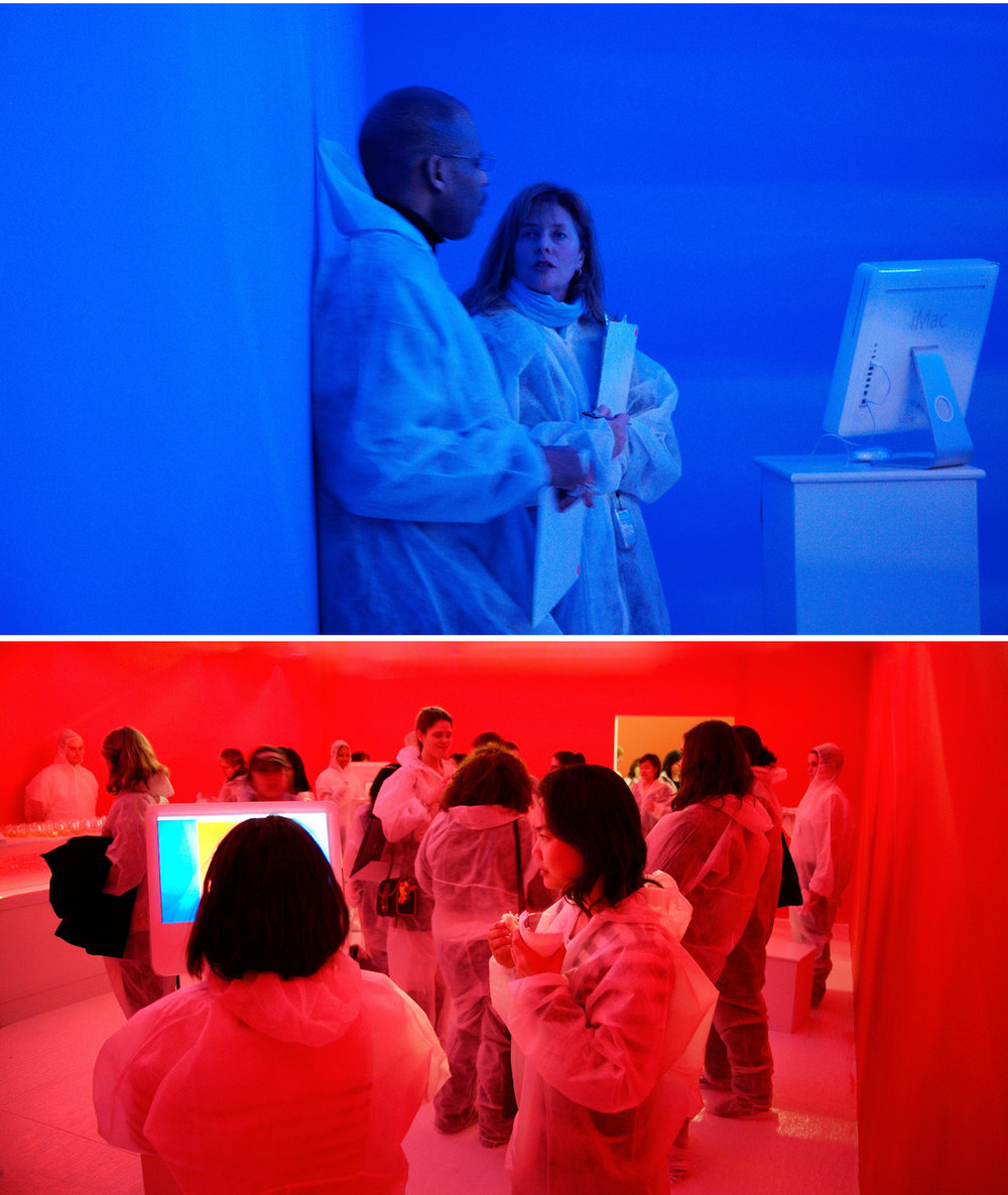 Photographs from Spatial Color: Experiencing Color in the Third Dimension. Research project by Shashi Caan for SC Collective. 2006. Photography by SC Collective.
