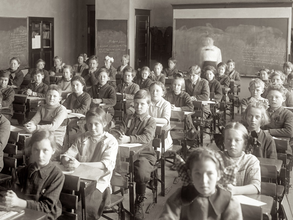 Classroom seating in the Industrial Age. Oregon. Early 20th century. Gifford Photographic Collection, OSU Special Collections & Archives Research Center.