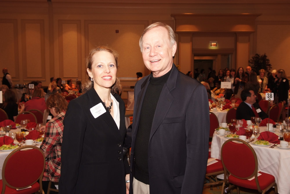 Meredith Libby of Ford Motor Company and Father Charles Strobel[1].jpg