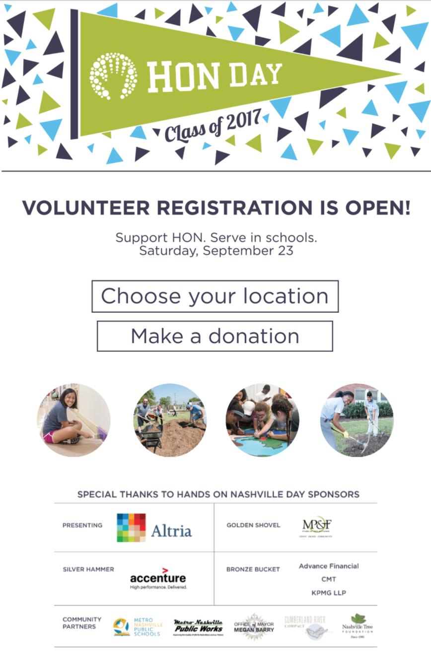 Targeted email: Volunteer registration