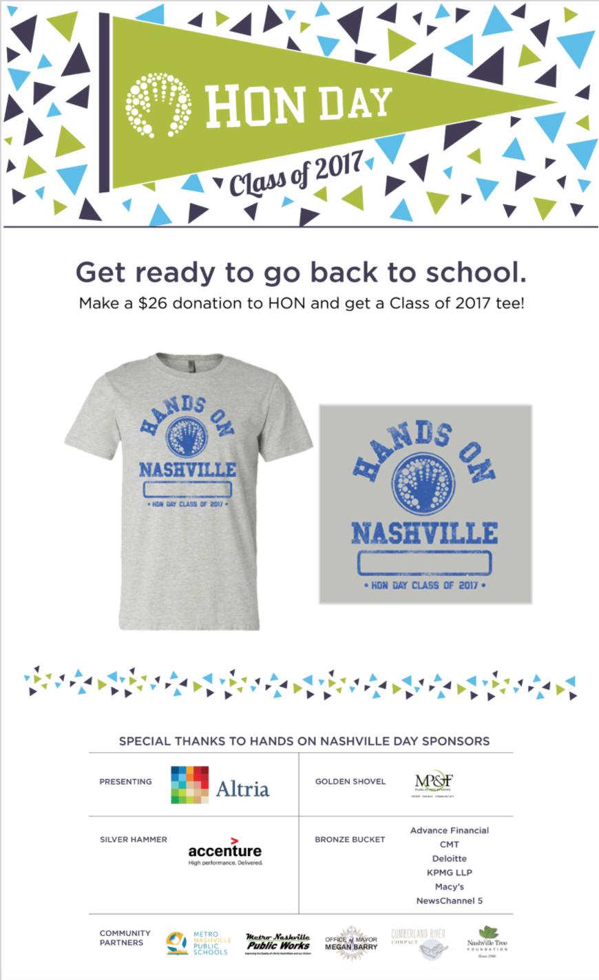 Newsletter: T-shirt promotion